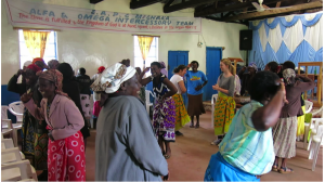 Doing the 'Mwanambere' dance with Upendo women group
