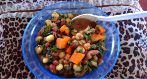 Sample portion of super githeri prepared for parents in Michogomone Secondary School