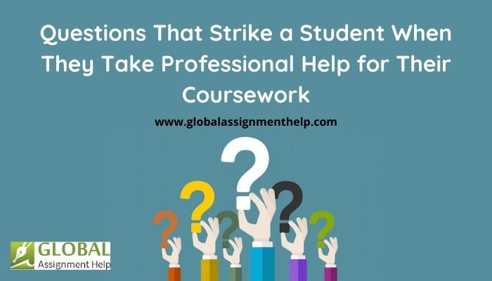 Questions That Strike a Student When They Take Professional Help for Their Coursework
